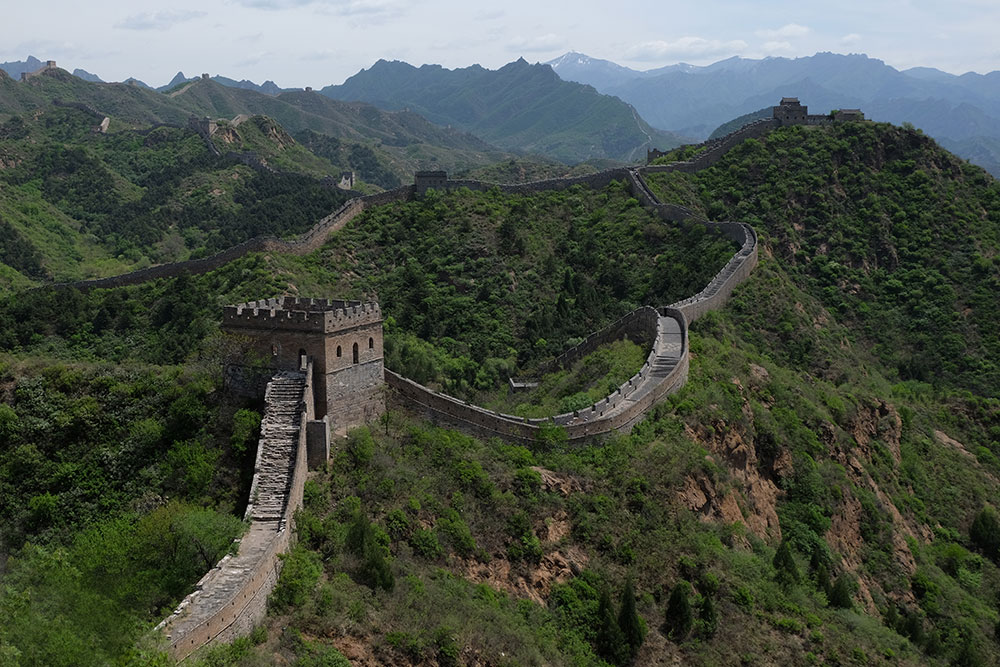 Великая Китайская Стена Вид сверху