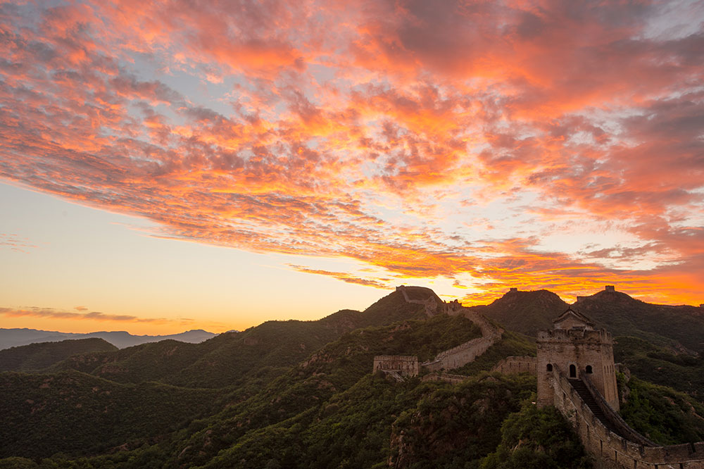 Великая Китайская Стена Живописный закат