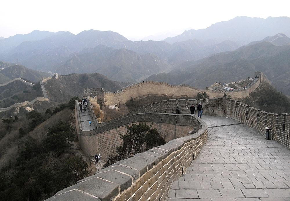 Великая Китайская Стена Вид на горы