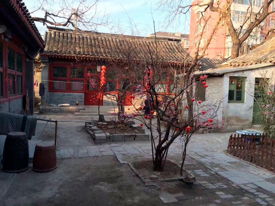 Живописный дворик в районе хутунов