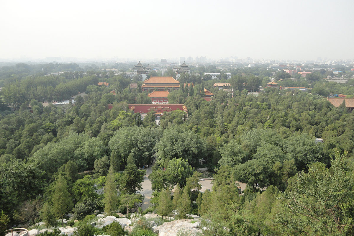 Вид на Пекин из парка Цзиншань