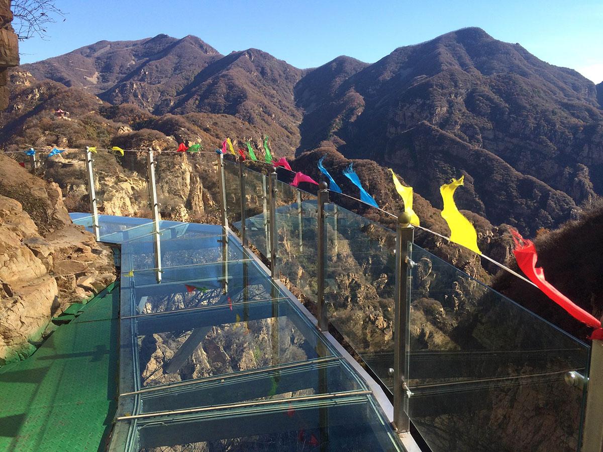 Место для туристов на смотровой площадке Пингу в Пекине