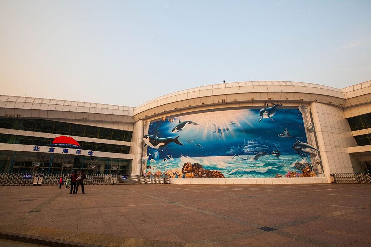 Вход в пекинский океанариум